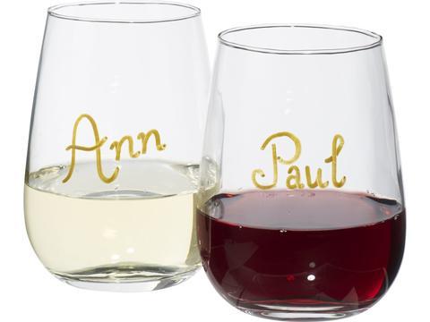 Barola wine glass writing set