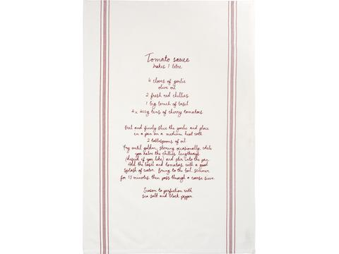 Aberdeen cotton recipe tea towel