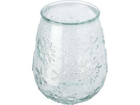 Faro theelichthouder van gerecycled glas