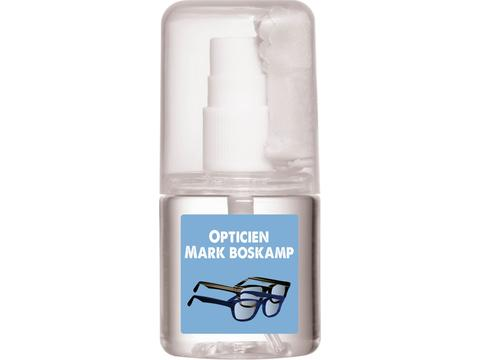 Lens cleaner with cloth