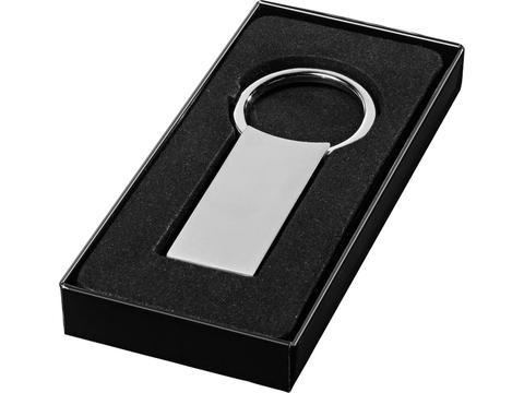 Porte-cles rectangulaire metal