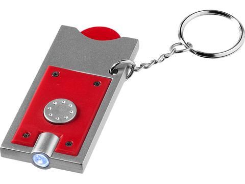 Porte-clés avec jeton et lampe-torche Allegro