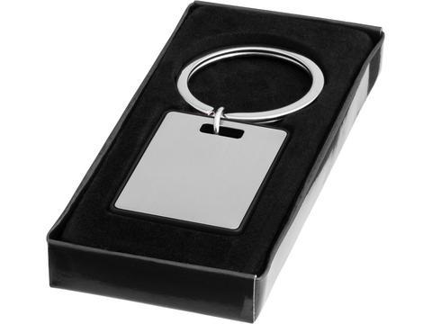 Klassieke sleutelhanger rechthoek