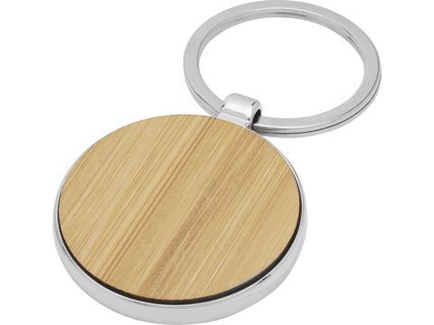 Porte-clés rond Nino en bambou