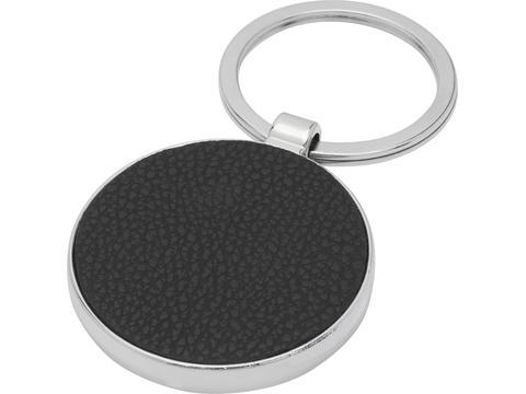 Porte-clés rond Paolo en PU pour gravure laser