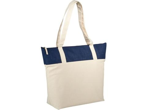 Jute and cotton tote