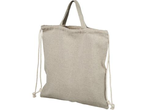 Pheebs 150 g/m² recycled cotton drawstring backpack