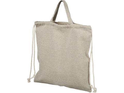 Sac à dos en coton recyclé 150 g/m² Pheebs avec cordon de serrage