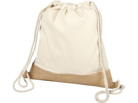 Delhi cotton jute drawstring backpack