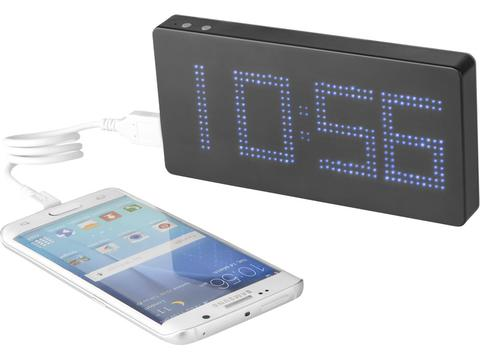 LED Display Powerbank with Clock