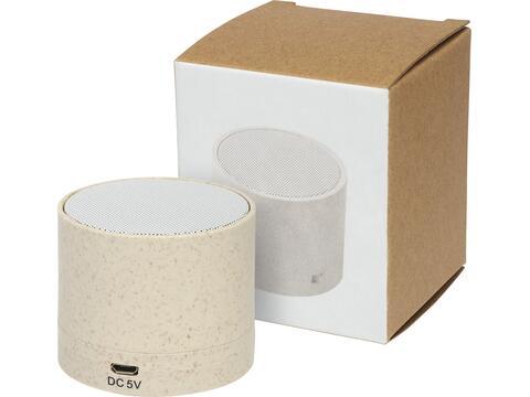 Haut-parleur Bluetooth® Kikai en paille de blé