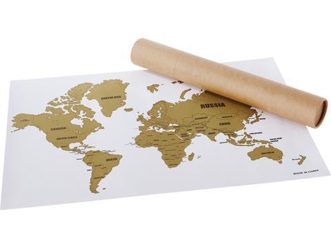 Wanderlust kraskaart van de wereld