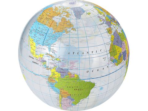 Ballon imprimé globe terrestre