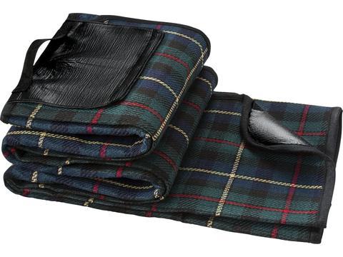 Picnic Blanket with tartan pattern