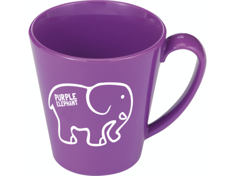 Plastic mug 1 colour - 350 ml