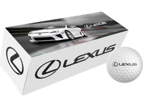 3 golfballen in custom made verpakking