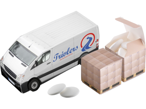 Delivery van with mints