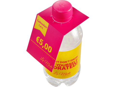 Flap over kaartje 330 ml bronwater