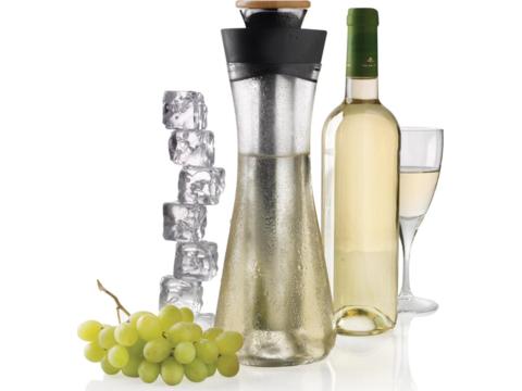 Elegante wijnkaraf met handige koeler