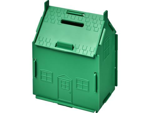 Spaarpot in de vorm van een huis