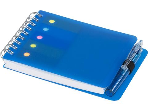 Kent notitieboek met sticky notes en pen
