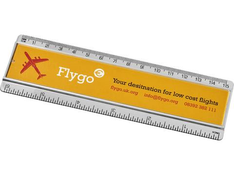Ellison 15 cm plastic ruler with paper insert