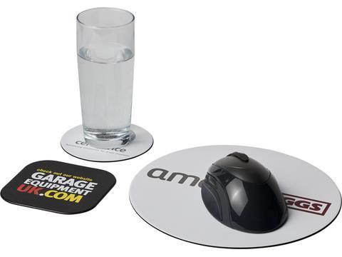 Ensemble de tapis de souris et de dessous de verre Brite-Mat® 4