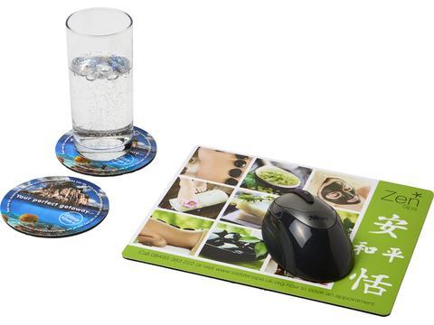Ensemble de tapis de souris et de dessous de verre Q-Mat® 2
