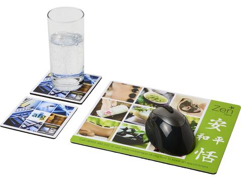 Q-Mat® mouse mat and coaster set