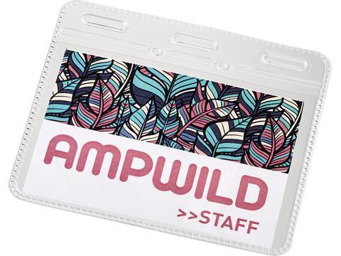 Porte-carte d'identité Arell en plastique transparent