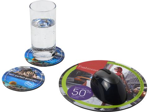 Q-Mat® mouse mat and coaster set combo 5