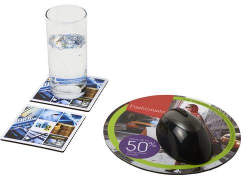 Ensemble de tapis de souris et de dessous de verre Q-Mat® 6
