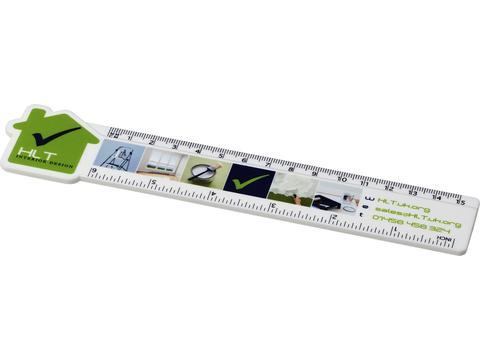 Loki 15 cm house shaped plastic ruler
