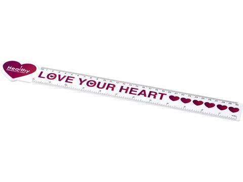 Loki 30 cm heart shaped plastic ruler