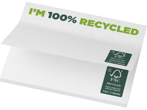 Notes autocollantes recyclées 100x75mm Sticky-Mate®