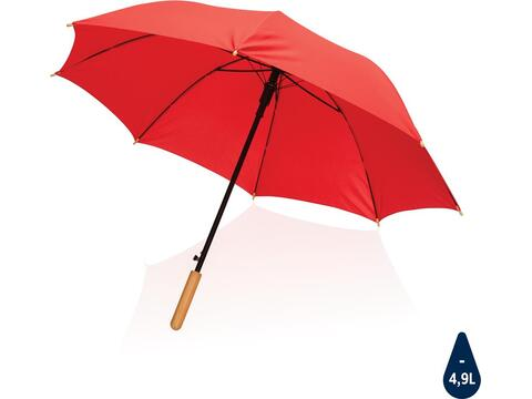 """23"""" Impact AWARE™ RPET automatisch open bamboe paraplu"""