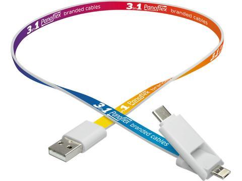 3 in 1 combi adaptor (USB-C, iPhone, Android)