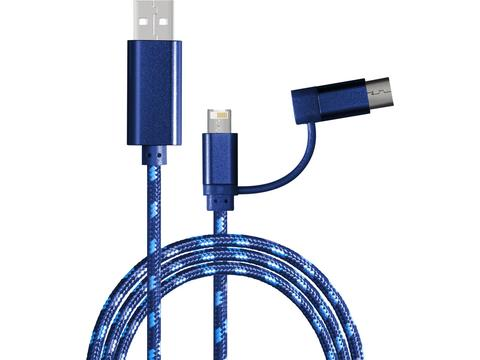 2 meters Charging cable with 3-in-1