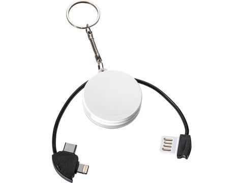 3-en1 Cable de charge avec porte-clés et ouvre bouteille