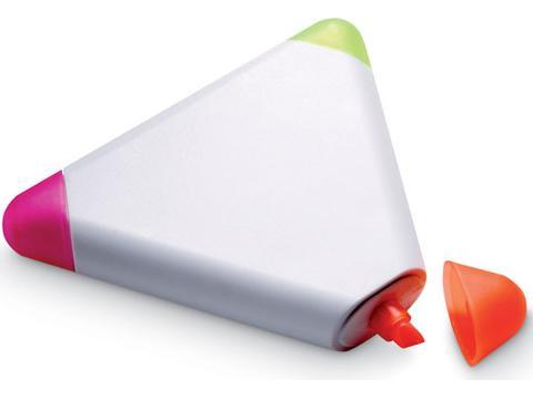 Surligneur 3 couleurs triangulaire
