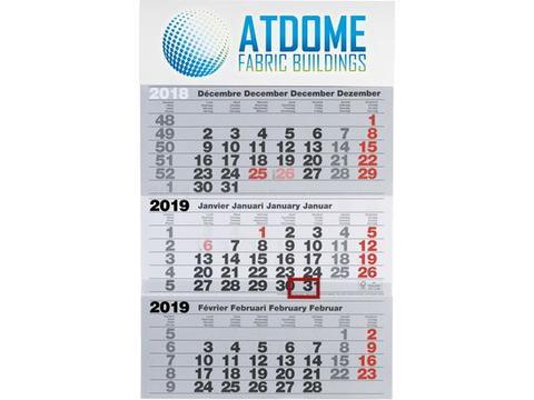 Jumbo calendrier trimestriel