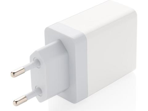 30W Fast wall charger dual output with PD