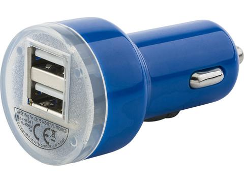 Car power adapter with two USB ports