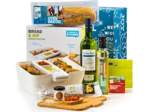 Christmas gift package Bread and dip