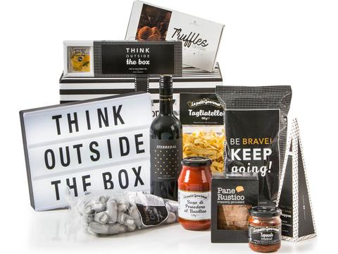 Christmas gift package Outside the box