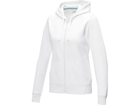 Sweat full zip à capuche Ruby bio GOTS et recyclé GRS femme
