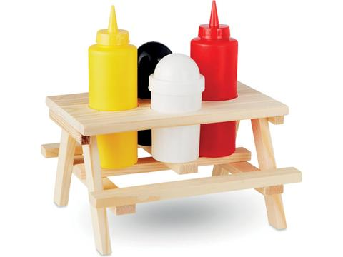 4 piece condiment containers