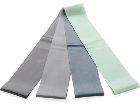 4-delige elastische fitnessbanden in etui