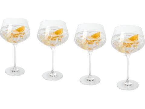 4-delige gin glazen set