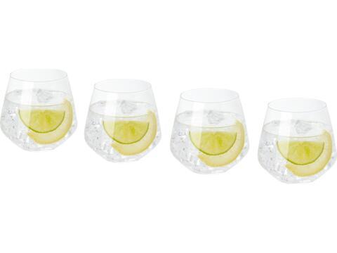 4-delige glazen bekers set